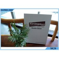 Buy cheap Customized Logo Marble Stone Sample Book White Cardboard 157g Net Weight from wholesalers