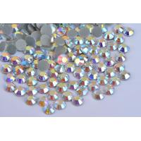Cheap Strong Glue Loose Lead Free Rhinestones 12 - 14 Facets For Garment Decoration for sale