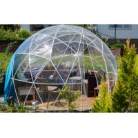Cheap 5M Luxury Geodesic Dome Tent With Steel Pipes And Transparent Cover for sale
