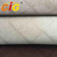 Cheap 100% Polyester  150cm width and 130gsm Embroidery Suede Fabric For Seat Cover for sale