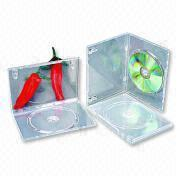 Cheap PP14SST-1D 14mm Single Clear Transparent DVD Case with Manual Clip for sale