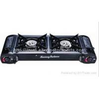 China Portable Gas Stove Two Burner Portable Gas BBQ Stove/Outdoor Cooker on sale