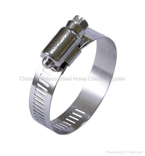 Stainless steel hose clamp worm drive with certificate of