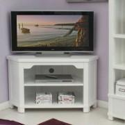 China Living room furniture Lila White Painted Corner TV Unit on sale