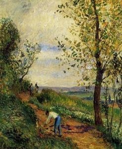 Quality Impressionist(3830) Landscape_with_a_Man_Digging wholesale