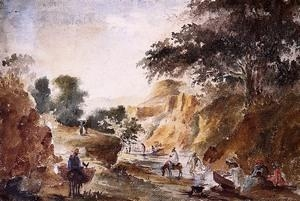Quality Impressionist(3830) Landscape_with_Figures_by_a_River wholesale