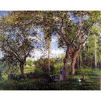 Cheap Impressionist(3830) Landscape_with_Strollers_Relaxing_under_the_Trees for sale
