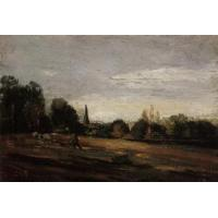 Cheap Impressionist(3830) Peasant_Working_in_the_Fields for sale