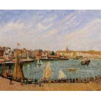 Cheap Impressionist(3830) Afternoon,_Sun,_the_Inner_Harbor,_Dieppe for sale