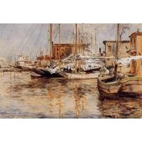 Cheap Impressionist(3830) Oyster_Boats_North_River for sale