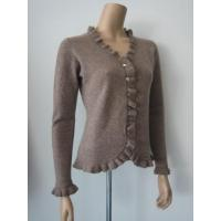 Cheap Women Cashmere Sweater Ruffle Edged Cashmere Cardigan for sale