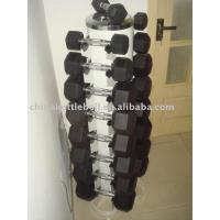 Buy cheap Hex rubber dumbbell from wholesalers