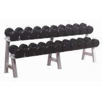 Buy cheap Rubber dumbbell and rack from wholesalers