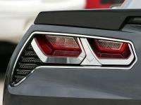 Bezel Trim Kit-Tail Lights-Polished or Brushed-Stainless Steel-W/ C7 Emblem-8 pieces-14-17