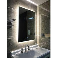 China Led Backlit Bathroom Mirror Vanity Square Wall Mount Bathroom Finger Touch Light Mirror on sale