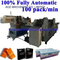 Buy cheap Fully Automatic Pocket Tissue Paper Handkerchief hanky Machine Production Line from wholesalers