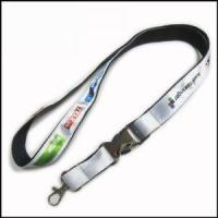 Cheap Heat-transferred Satin Lanyard for Adverting Gift for sale
