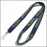 Cheap Double Thick Popular Woven Logo Neck Strap for sale
