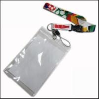 Cheap Big PVC ID Card Holder Polyester Lanyard Production from Zhanhong for sale