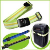 Cheap Nylon Durable Rainbow Luggage Strap with Combination Lock for sale