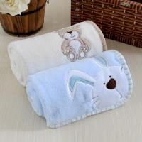 Buy cheap Baby blanket lovely embroidery solid fleece baby blanket from wholesalers