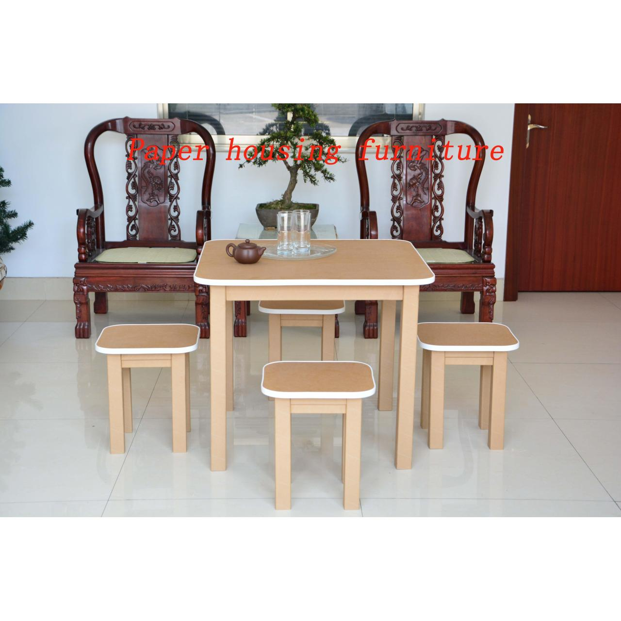 Buy cheap paper furniture square paper table from wholesalers