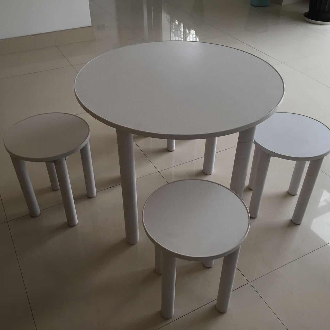 Buy cheap paper furniture round stool from wholesalers