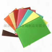 Buy cheap painted glass white black blue red yellow varnished glass from wholesalers