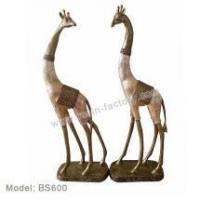 Buy cheap Bronze and seashell items Polyresin Deer Figurines from wholesalers