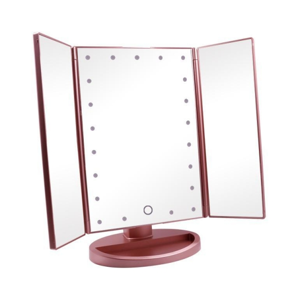 Quality Tri-Fold Lighted Vanity Makeup Mirror with 21 LED Lights wholesale