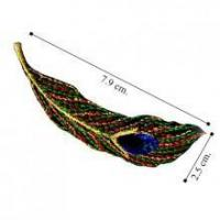 China Peacock Feather Embroidered Sew On Patch on sale