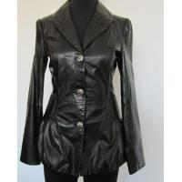 fashion leather coat for ladies