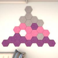 Buy cheap Acoustics Panels Hexagon PET Fiber Sound Proofing Acoustic Decoration from wholesalers
