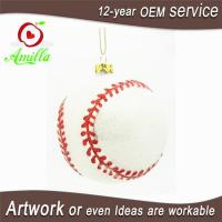 Cheap Blown Glass Sports Baseball For Christmas Tree Ornaments for sale