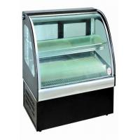 Cheap Curved Glass Food Showcase Refrigerator Bakery Display Cases Easy Installation for sale
