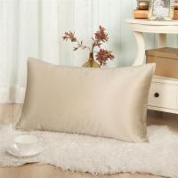 China Golden plain dyed mulberry silk pillow cover for summer on sale