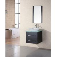 China 24 Portland (DEC071C-G) Wall-Mount Single Vessel Sink Vanity with Glass Top on sale