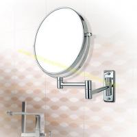 China Round Foldable Cosmetic Mirror Bathroom Wall Mounted Magnifying Makeup Mirror on sale
