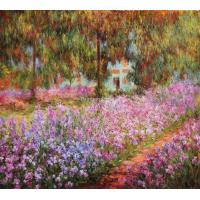 Canvas prints Visting gifts of printed painting Garden at Giverny for wall hanging