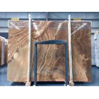 Cheap Yellow Wooden Marble Slabs for sale