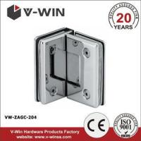 Buy cheap 90 degree double side glass door pivot hinge for bathroom from wholesalers