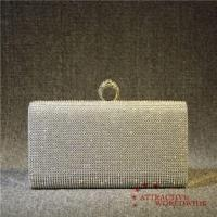 Buy cheap PU Leather Women Rectangular Mesh Grid Evening Clutches with Ring Lock from wholesalers