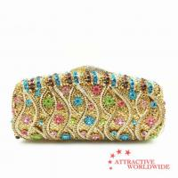 Buy cheap PU Leather Women Evening Bag Clutches with Multi-color Artificial Gemstone from wholesalers