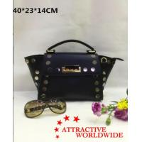 Buy cheap PU Leather Trapeze Handbag Studded Round Silver Metal for Women from wholesalers