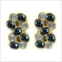 Cheap Crystal stone & black stone casting earring for sale