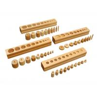 Montessori Material Montessori Educational Wooden Toys for Kids Cylinder Blocks