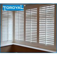 China Norman White Shutters on Modern UK Kitchen Window Treatments Blinds PVC Shutters on sale