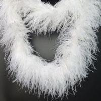 Cheap Wholesale 6plys white ostrich feather boa for sale