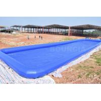 China Custom Blue Largest Inflatable Water Pool Square Above Ground Salt Water Pool on sale