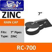 Buy cheap Rain Caps 7'' Exhaust Rain Cap Zinc Plated RC-700 from wholesalers